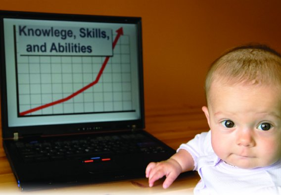baby on computer image